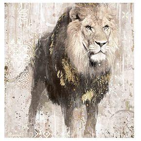 New View Portrait Lion Canvas Wall Art