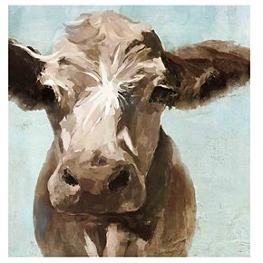 New View Cow Canvas Wall Art