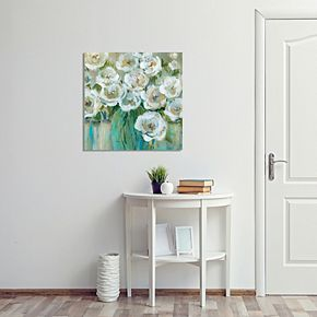 New View Loose Peonies Canvas Wall Art