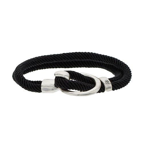 Bella Uno Bumble Bee Black Double Strand Cord Bracelet