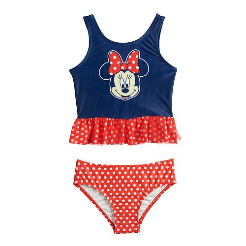 98d567058b53d Disney's Minnie Mouse Toddler Girl Two-Piece Swimsuit by Dreamwave