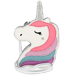Girls Unicorn Glitter Cross Body Purse