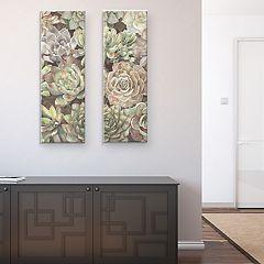 Desert Garden Panel I & II Canvas Wall Art 2-piece Set