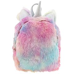 Girls Faux-Fur Unicorn Mini Backpack