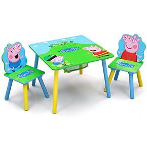 Delta Children Peppa Pig Table & Chair Set with Storage