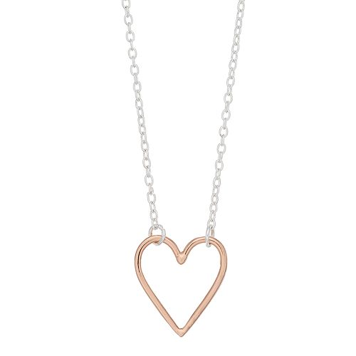 love this life Two Tone Heart Necklace