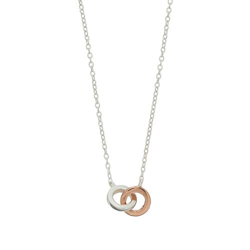 love this life Two Tone Double Circle Necklace