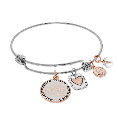 "love this life ""Mother Daughter"" Bangle Bracelet"