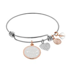 love this life 'Faith Hope Love' Bangle Bracelet