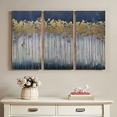 Madison Park Midnight Forest Canvas Wall Art 3-piece Set