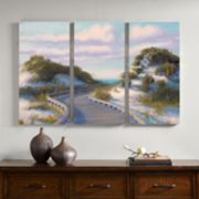Madison Park Boardwalk At The Beach Canvas Wall Art 3-piece Set
