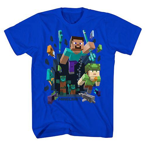 Boys 8-20 Minecraft Aquatic Adventure Tee