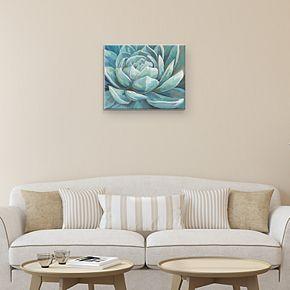 Cerulean Succulent Canvas Wall Art