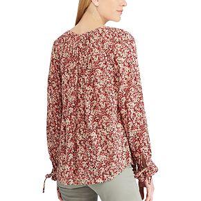 Women's Chaps Floral Peasant Top