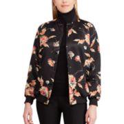 Women's Chaps Floral Bomber Jacket