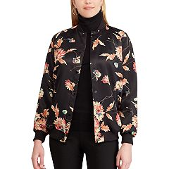 Women's Chaps Floral Bomber Jacket