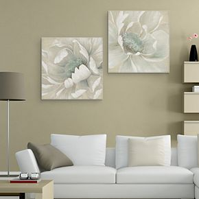 Winter Blooms I & II Canvas Wall Art 2-piece Set
