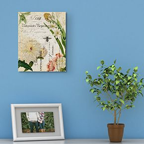Botany Collage II Canvas Wall Art