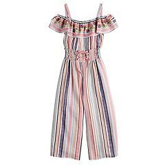 Girls 7-16 Knitworks Ruffled Off-The-Shoulder Strappy Jumpsuit