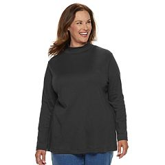 Plus Size Croft & Barrow® Essential Mockneck Top