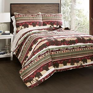 Lush Decor Holiday Lodge 3-piece Quilt Set