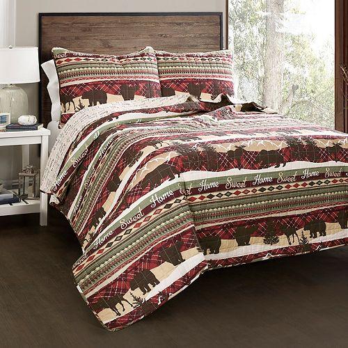 Lush Decor Holiday Lodge 3-piece Quilt Set