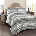 Lush Decor Hygge Geometric 3-piece Quilt Set