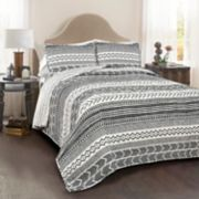 Lush Decor Hygge Geometric 3-piece Quilt Set