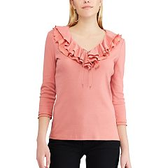 Women's Chaps Ruffled V-Neck Top