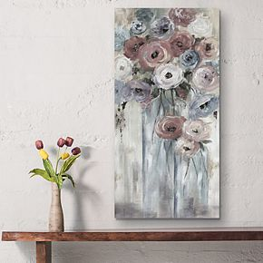 Bottles & Blooms Canvas Wall Art