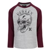 Boys 4-7 Hurley Pirate Skull Raglan Graphic Tee