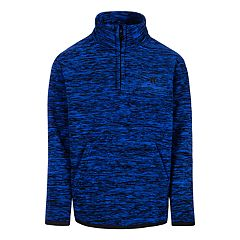 Boys 4-7 Hurley 1/4 Zip Marled Polar Protect Fleece Pullover