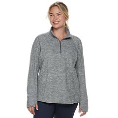 Plus Size Tek Gear® Lightweight Microfleece 1/4 Zip Top