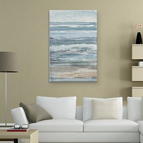 "Watercolor Coastal 36"" x 24"" Canvas Wall Art"