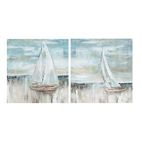 Soft Sail I & II Canvas Wall Art 2-piece Set