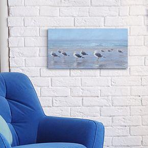 "Seabirds 12"" x 24"" Canvas Wall Art"