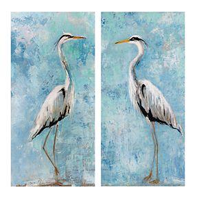 Heron I & II Canvas Wall Art 2-piece Set
