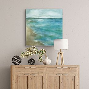 "Gentle Tides 30"" x 30"" Canvas Wall Art"
