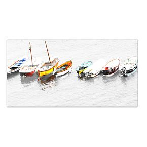 "8 Whitewater Boats 24"" x 48"" Italia Canvas Wall Art"