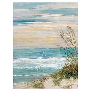 "Beach At Dusk 40"" x 30"" Canvas Wall Art"