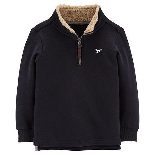 Toddler Boy Carter's Sherpa 1/4 Zip Pullover Sweater