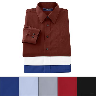 Croft and Barrow Classic-Fit Solid Broadcloth Point-Collar Dress Shirt