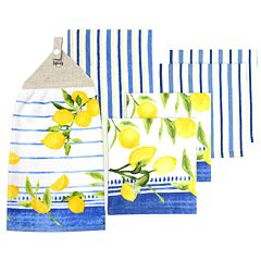 Food Network™ Lemons Tie-Top Kitchen Towel & Dishcloth Set