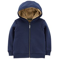 Toddler Boy Carter's Velboa Lined Hoodie