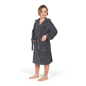 Linum Home Textiles Kids Hooded Terry Embroidered Christmas Dog Bathrobe