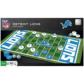 Detroit Lions Checkers Board Game