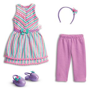 American Girl WellieWishers Doll Ribbons & Stripes Outfit