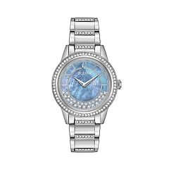 Bulova Women's TurnStyle Crystal Stainless Steel Watch - 96L260