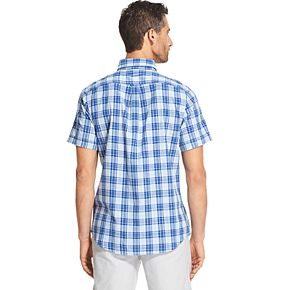 Men's IZOD Sportswear Saltwater Dockside Slim-Fit Chambray Patterned Button-Down Shirt