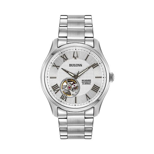 Bulova Men's Wilton Stainless Steel Automatic Watch - 96A207